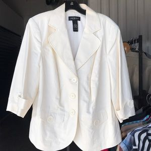 Lane Bryant ivory linen jacket Sz 16